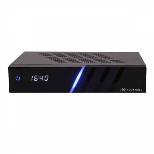 AX Technology AX 4K-BOX HD61 1x DVB-S2X 1x DVB-C/T2 4K UHD 2160p PVR H.265 E2 Linux Receiver 4TB