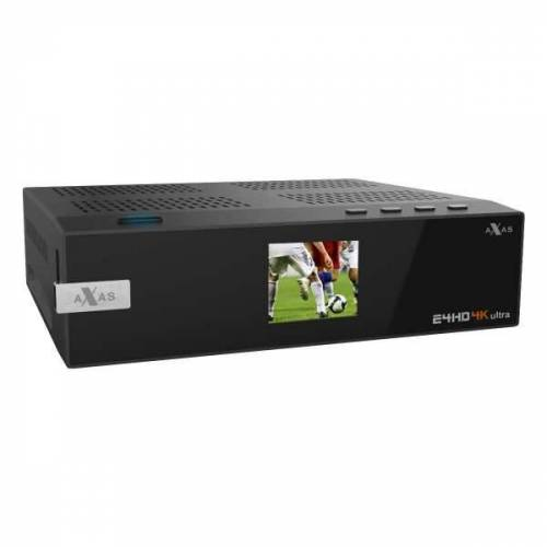 Axas E4HD 4K Ultra HD E2 Linux H.265 HEVC 2160p Receiver 1x DVB-S2X 1x DVB-C/T2 Dual