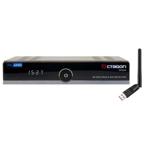 Octagon SF8008 4K UHD 2160p H.265 HEVC E2 Linux DVB-S2X Single Sat Receiver 150Mbit Wlan