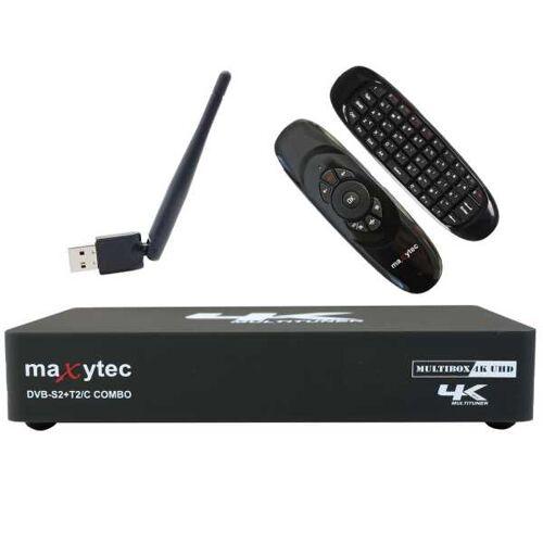 Maxytec Multibox 4K UHD 2160p E2 Linux USB WLAN LAN DVB-S2/T2/C Combo Receiver + e40 Air Mouse