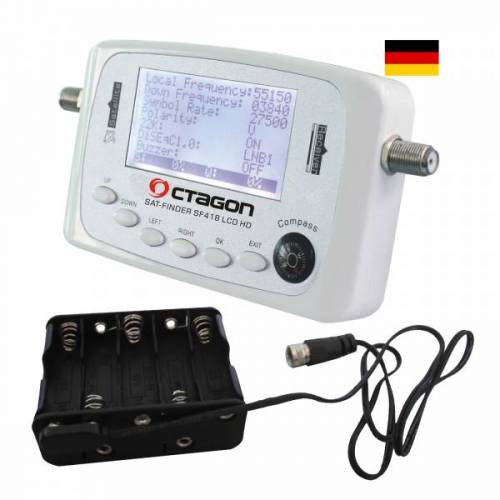 Octagon SF 418 LCD HD Satfinder+ Batterie Pack Deutsche Menü
