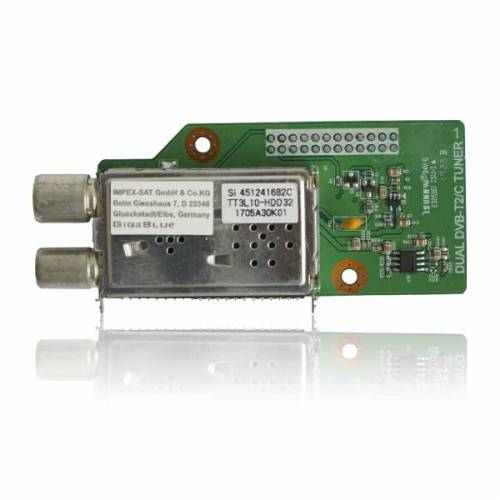 GigaBlue DVB-C/T2 Dual HD Tuner H.265 für Gigablue HD X2, UHD QUAD 4K, UE 4K, IP 4K UHD Receiver