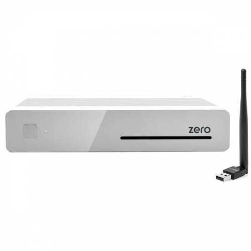 VU+ Plus Zero E2 Linux Full HD Sat 1xDVB-S2 Receiver Weiss + 150Mbit Wlan Stick