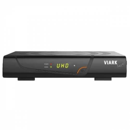 Viark Sat 4K UHD H.265 2160p DVB-S2X Multistream Receiver LAN WLAN Schwarz