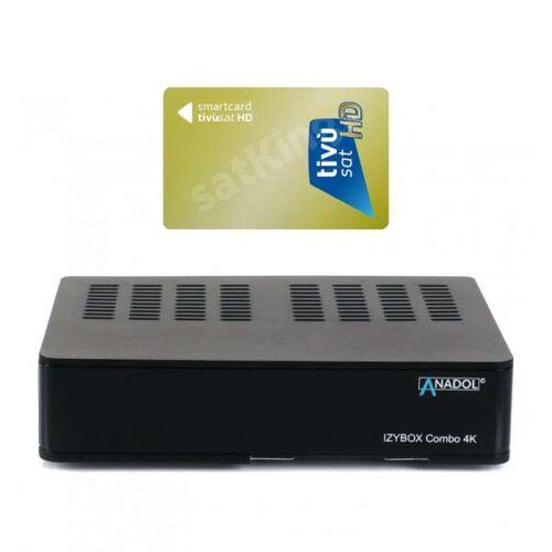 Anadol IZYBOX Combo 4K UHD H.265 DVB-S2/C/T2 Sat & Kabel Receiver mit TiVuSat Karte aktiv