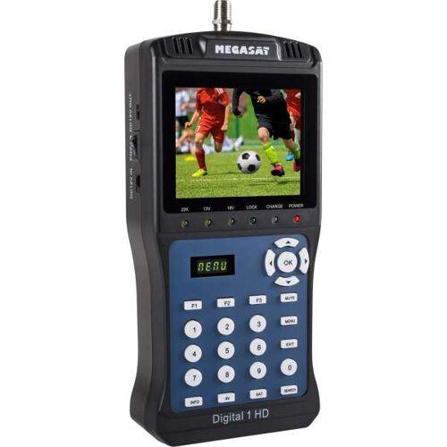 MegaSat Satmessgerät Digital 1 HD TV LCD DVB-S2 Satelliten-Finder Vorprogrammiert