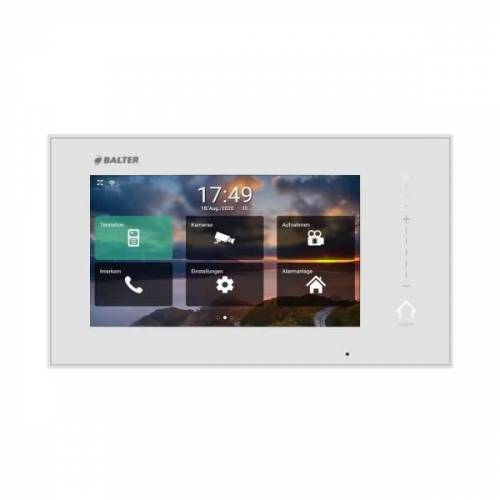 BALTER ERA 7 IP WiFi Touchscreen HD Monitor 2-Draht IP BUS Weiss iOS + Android App