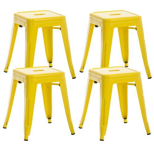 CLP 4er Set Hocker Armin-gelb