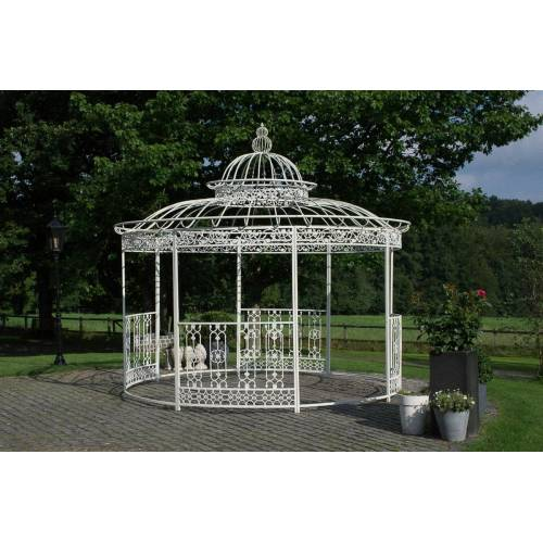 Loraville Luxus Pavillon Romantik rund Ø 3,5 m-antik_weiß