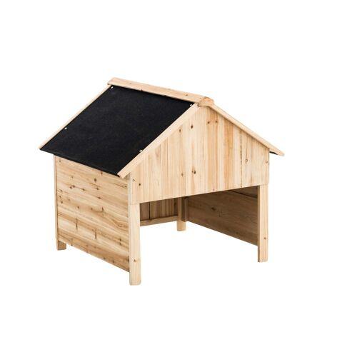 CLP Holzgarage für Rasenroboter-schwarz