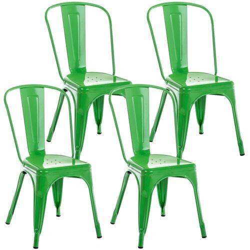 CLP 4er Set Stuhl Benedikt-grün