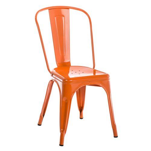 CLP Stapelbarer Metall Stuhl Benedikt-orange