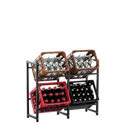 CLP Getränkekistenständer Lennert-schwarz-L