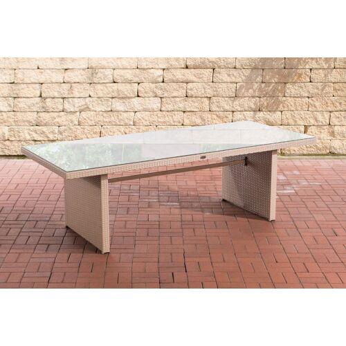 CLP Polyrattan Tisch Avignon-sand-240 cm