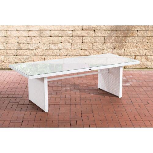 CLP Polyrattan Tisch Avignon-weiß-240 cm