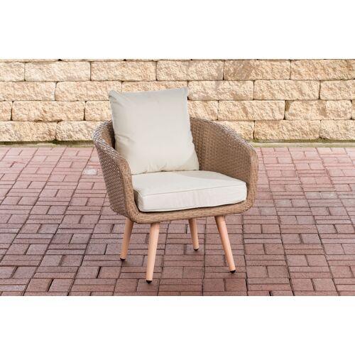 CLP Sessel Ameland Sitzhöhe 45 cm-sand-Cremeweiß