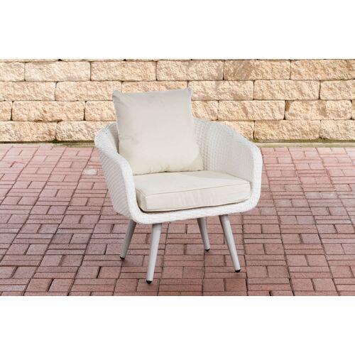 CLP Sessel Ameland Sitzhöhe 40 cm-weiß/flach-Cremeweiß