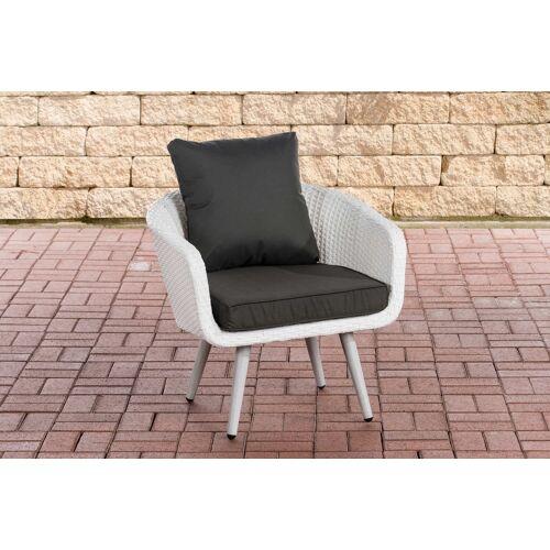 CLP Sessel Ameland Sitzhöhe 40 cm-weiß/flach-Anthrazit