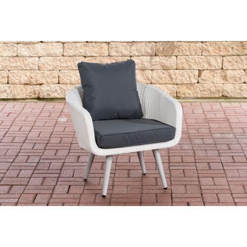 CLP Sessel Ameland Sitzhöhe 40 cm-weiß/flach-Eisengrau