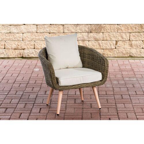CLP Sessel Ameland 5mm Sitzhöhe 40 cm-rund/natura-Cremeweiß
