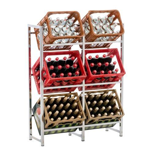 CLP Getränkekistenständer Lennert -chrom-XL