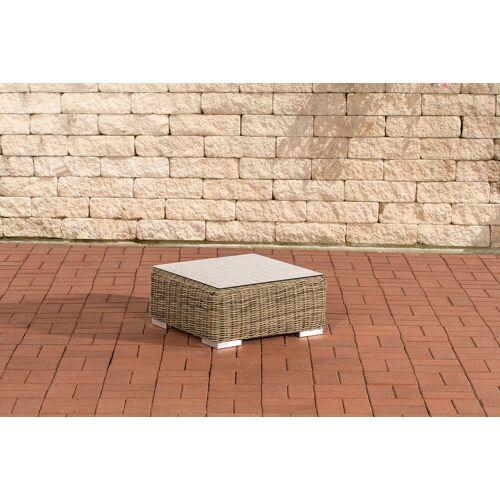 Loraville Polyrattan Tisch Ariano 56 x 56 cm-rund_natura