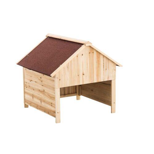 CLP Holzgarage für Rasenroboter-rot