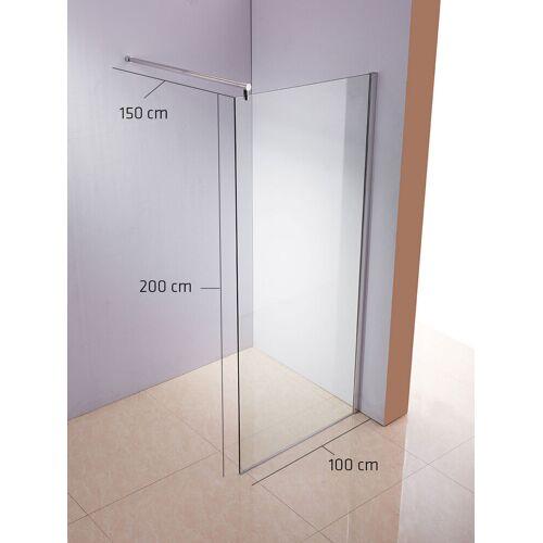 CLP Duschabtrennung Rund-klarglas-100x200x150 cm