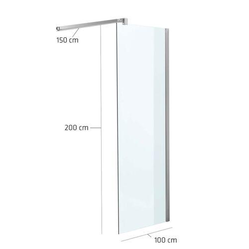 CLP Duschabtrennung Rechteckig-klarglas-100x200x150 cm
