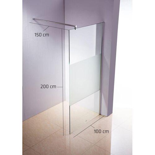 CLP Duschabtrennung Rund-klarglas/milchglas-100x200x150 cm