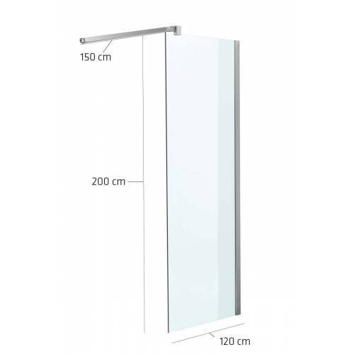 CLP Duschabtrennung Rechteckig-klarglas-120x200x150 cm
