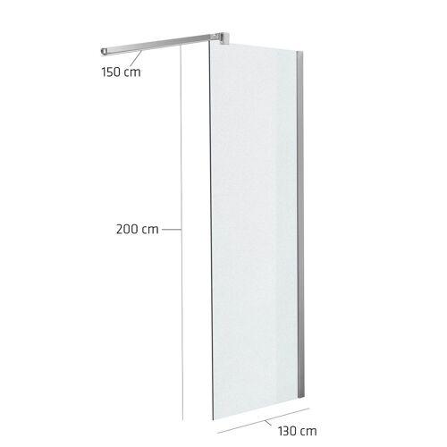 CLP Duschabtrennung Rechteckig-milchglas-130x200x150 cm