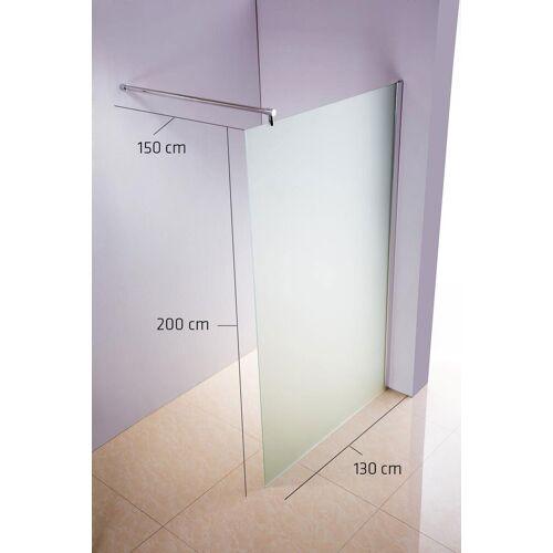 CLP Duschabtrennung Rund-milchglas-130x200x150 cm