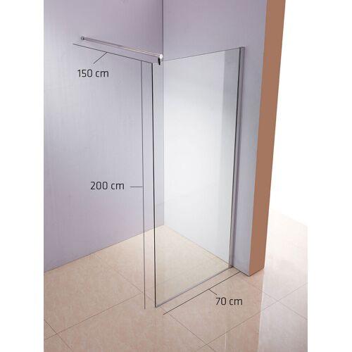 CLP Duschabtrennung Rund-klarglas-70x200x150 cm