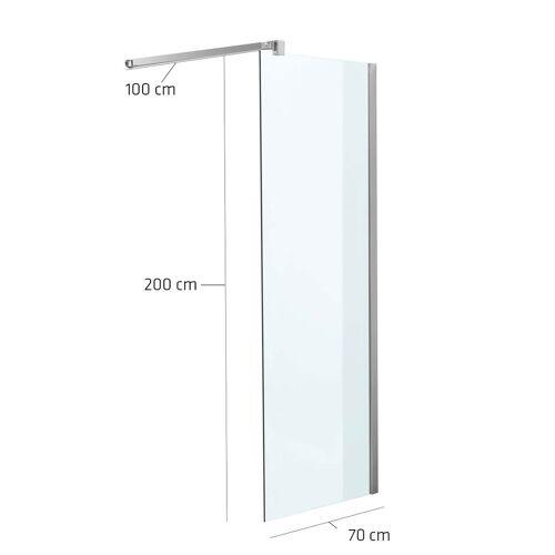 CLP Duschabtrennung Rechteckig-klarglas-70x200x100 cm