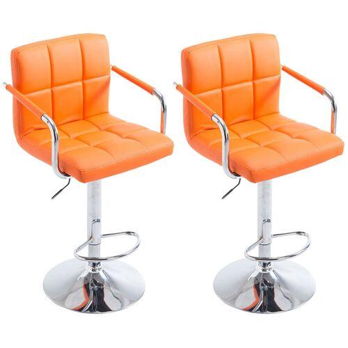 CLP 2er Set Barhocker Lucy V22er Set Barhocker Lucy V2-orange-Chrom