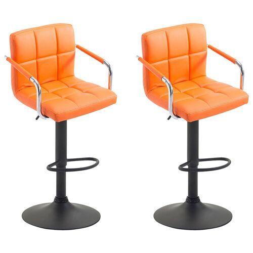 CLP 2er Set Barhocker Lucy V22er Set Barhocker Lucy V2-orange-Schwarz