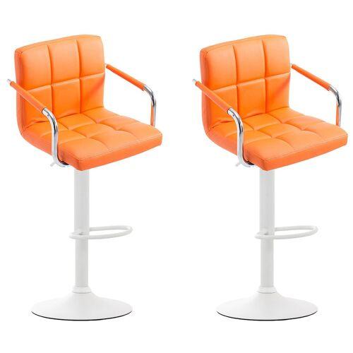CLP 2er Set Barhocker Lucy V22er Set Barhocker Lucy V2-orange-Weiß