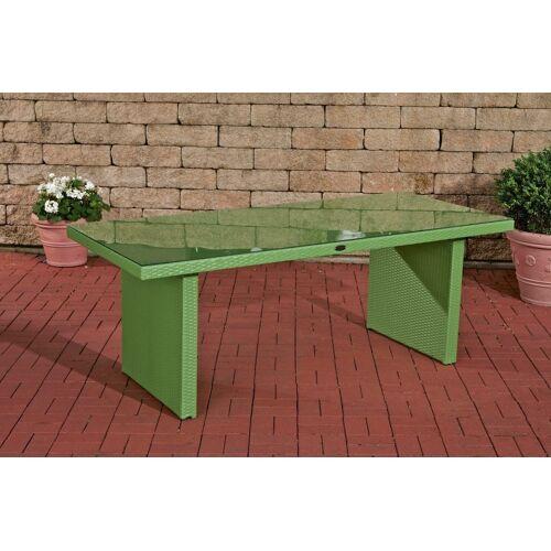 CLP Polyrattan Tisch Avignon-grün/flach-180 cm