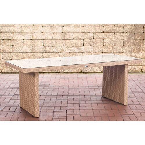 CLP Polyrattan Tisch Avignon-sand-200 cm