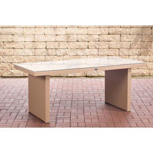 CLP Polyrattan Tisch Avignon-sand-180 cm