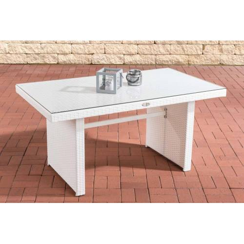Loraville Fisolo Tisch Polyrattan-weiß
