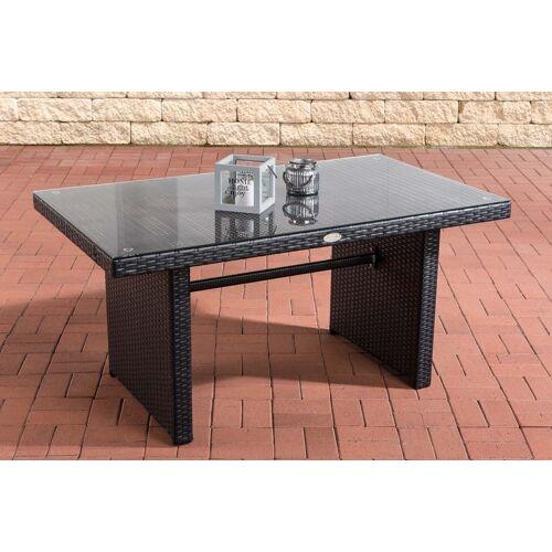Loraville Fisolo Tisch Polyrattan-schwarz
