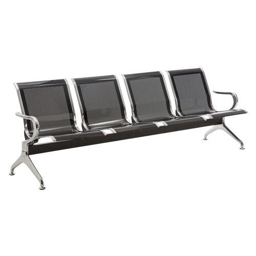 CLP 4er Wartebank Airport-schwarz