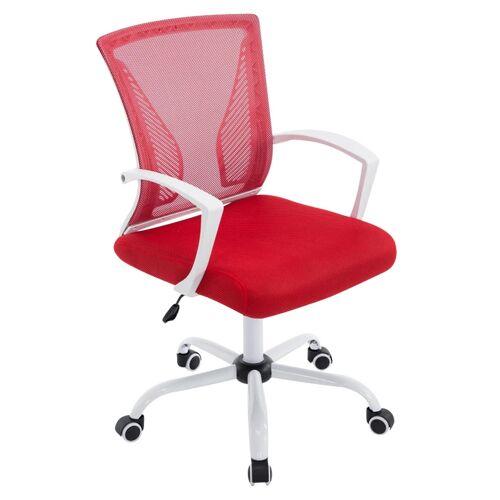 CLP Bürostuhl Tracy-rot-Weiß