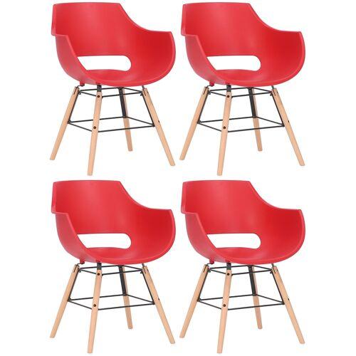 CLP 4er Set Stuhl Skien Kunststoff-rot-Natura