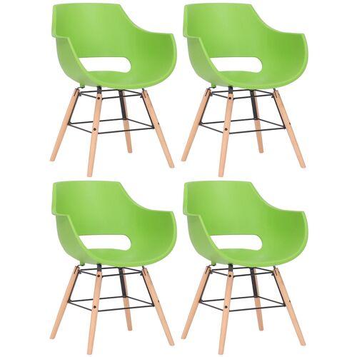 CLP 4er Set Stuhl Skien Kunststoff-grün-Natura