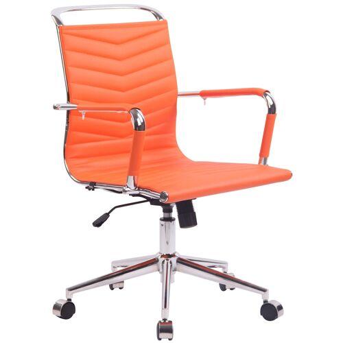 CLP Bürostuhl Burnley Kunstleder-orange