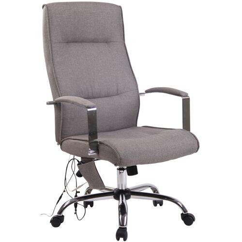 CLP Bürostuhl Portland mit Massagefunktion-grau-Stoff