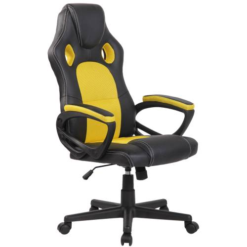 PAAL Office Furniture Sportsitz Racing Bürostuhl Fire-schwarz_gelb